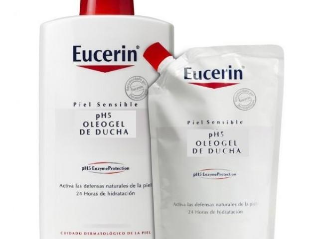 Regalo de 400 ml en envase ecológico. Eucerin presenta un oleogel de ducha de textura rica que limpia muy suavemente la piel, restaurando intensamente el nivel lipídico mientras protege las defensas naturales de la piel. Para la piel SENSIBLE y SECA del cuerpo.