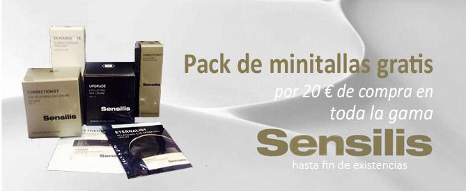 Promoción de minitallas de Sensilis en Farmaconfianza