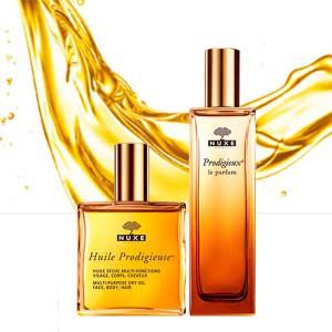 Huile Prodigieux y Perfume Nuxe