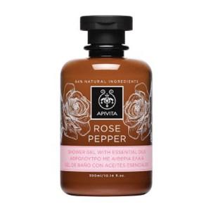 Apivita Rose Pepper Gel de Ducha con Aceites Esenciales en Farmaconfianza