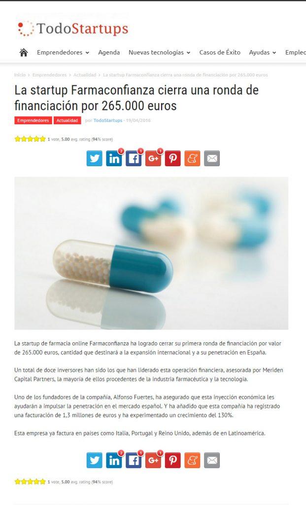 Farmaconfianza en TodoStartups