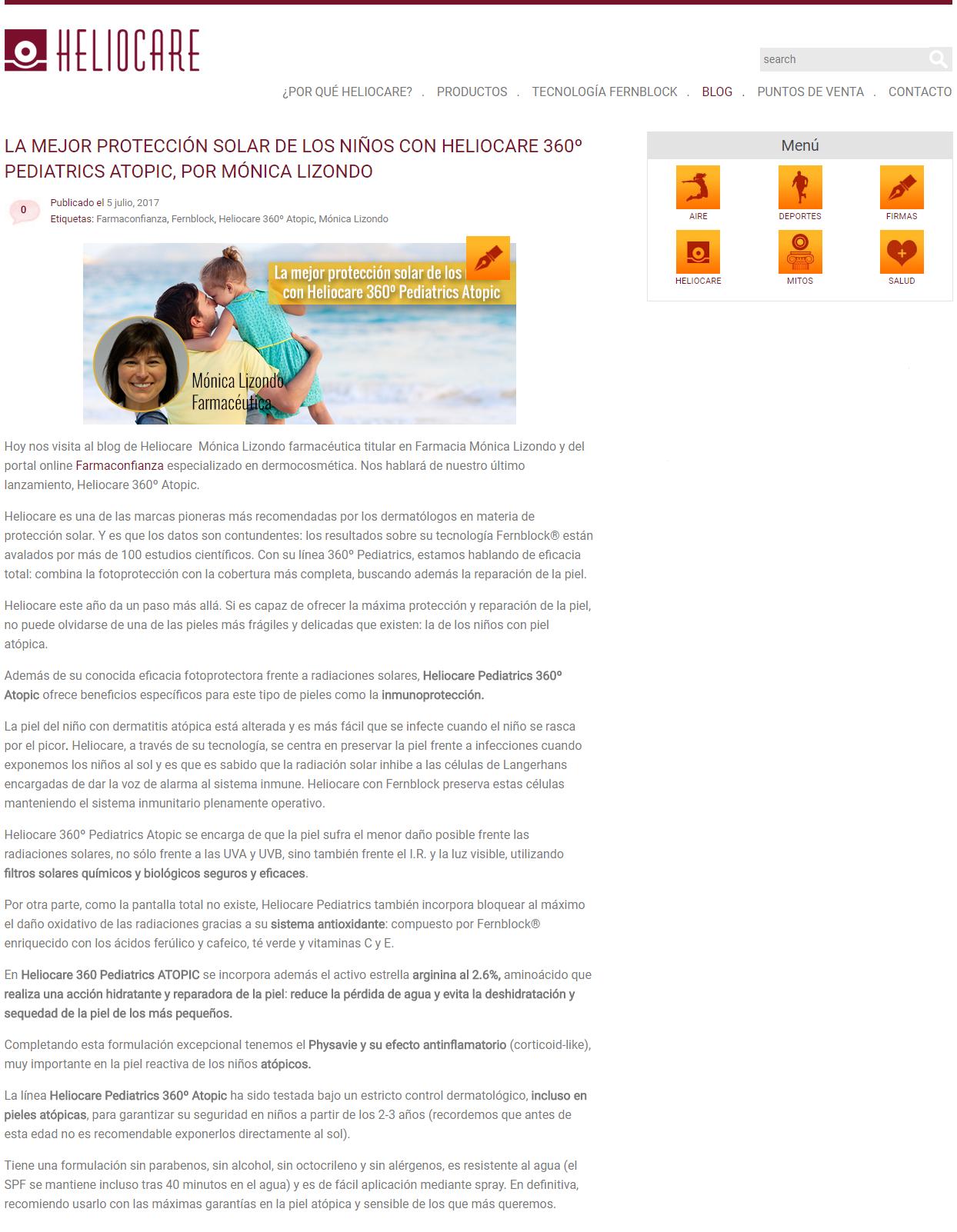 Protege la piel atópica de los niños con Heliocare 360º